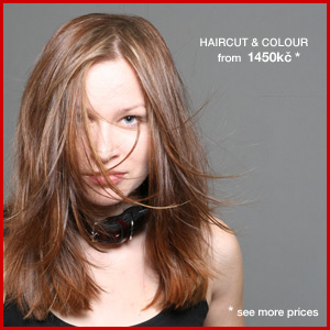 Womans haircut from 300kč to 1950kč. Price includes shampoo, conditioner and normal styling.
